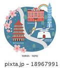 ベクトル 台湾 メモリアルホール 18967991