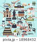 文化 ベクトル バケーション 18968432