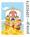 七福神と小判 18992874