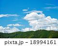 風力発電 雲 青空の写真 18994161