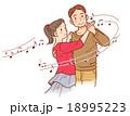 趣味の社交ダンス・音符 18995223
