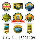 Camping emblems set 18996109