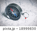 Compass Over Map And Red Pin 18999830
