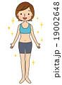 ダイエット 女性 健康的な身体 19002648
