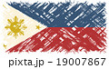 Philippines grunge flag. Vector illustration. 19007867