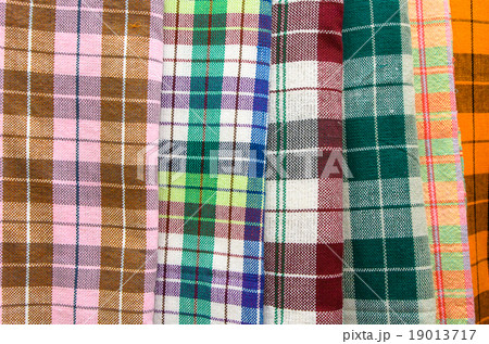 Colorful handmade loincloth use as backgroundの写真素材 [19013717] - PIXTA