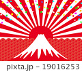 初日の出 祝賀イメージ 富士山 19016253