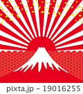 初日の出 祝賀イメージ 富士山 19016255