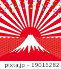 初日の出 祝賀イメージ 富士山  19016282