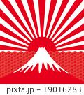 初日の出 祝賀イメージ 富士山  19016283