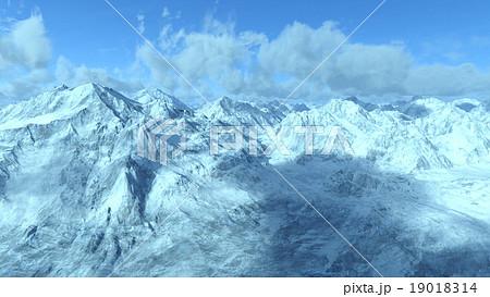 雪山のイラスト素材 19018314 Pixta