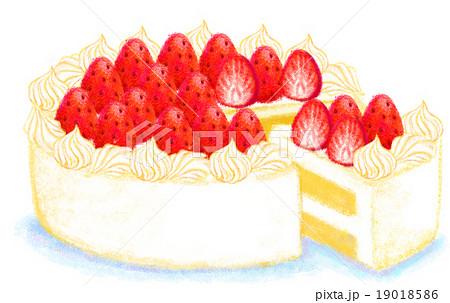 イチゴのケーキのイラスト素材 19018586 Pixta