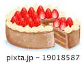 苺のチョコケーキ 19018587