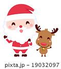 クリスマス サンタ サンタクロースのイラスト 19032097