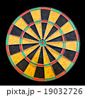 Dartboard isolated on black 19032726