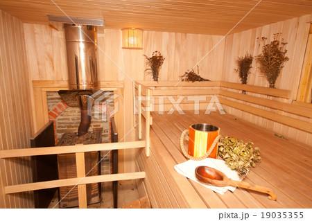 Finnish saunaの写真素材 [19035355] - PIXTA