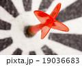 Red dart hitting the target 19036683