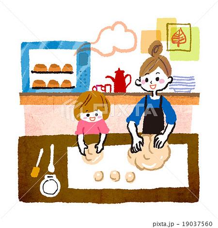 親子パン作り 19037560