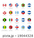 North America and Caribbean Flag Icons. Hexagon 19044328