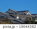 青空 日本家屋 瓦の写真 19044382