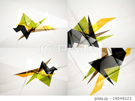 Set of angle and straight lines design abstractのイラスト素材 [19049323] - PIXTA