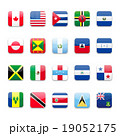 America flags round icon 19052175