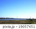 秋晴れの多摩川 19057451