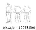 男子のストリート系ファッションのスタイル画 19063600