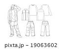 男子のストリート系ファッションのスタイル画 19063602