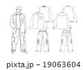 男子のストリート系ファッションのスタイル画 19063604