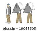 男子のストリート系ファッションのスタイル画 19063605