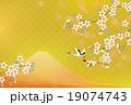 富士山と桜と鶴 19074743