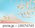 富士山と桜と鶴 19074745