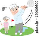 シニア ゴルフを楽しむ 趣味 19086600