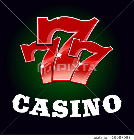 Casino jackpot icon with red lucky number 19087093