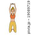 ストレッチ 体操 女性のイラスト 19089719
