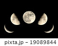 月 満月 半月の写真 19089844