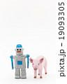 仲良くなったロボットとコブタ 19093305