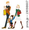 ショッピング中の家族 19098607