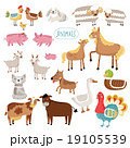 Illustration of farm animals. 19105539