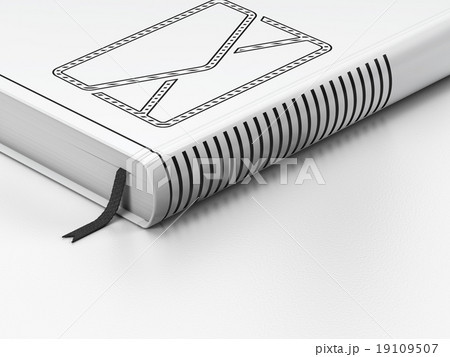 Business concept: closed book, Email on whiteのイラスト素材 [19109507] - PIXTA