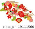 お正月 正月 吊るし飾りのイラスト 19111560