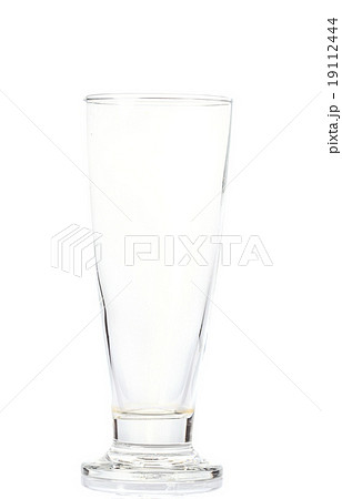 Empty glass isolated on a white backgroundの写真素材 [19112444] - PIXTA