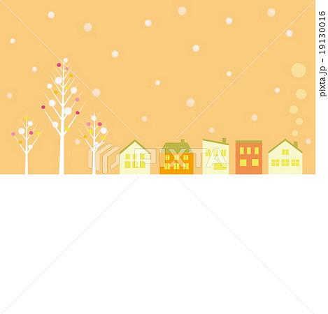 冬風景のイラスト素材 19130016 Pixta