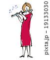 フルート奏者(カラー) 19133030