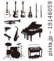 楽器シルエット 19146059