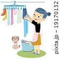 洗濯 洗濯物を干す 19170132