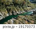 四国三郎こと吉野川、大歩危(おおぼけ)峡 シーズン中はラフティングが盛ん 19170373