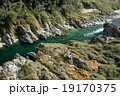 四国三郎こと吉野川、大歩危(おおぼけ)峡 シーズン中はラフティングが盛ん 19170375