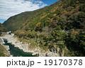 四国三郎こと吉野川、大歩危(おおぼけ)峡 シーズン中はラフティングが盛ん 19170378